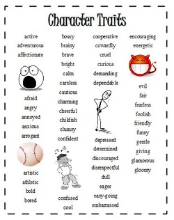 character traits handout new freebie kaylee s education studio