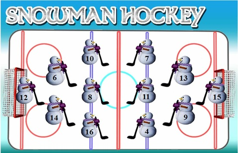 Snowman Hockey game board