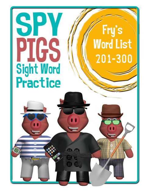 Spy pigs sight word practice game