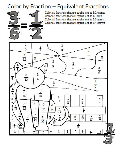 math worksheet : color by fractions  kaylee s education studio : Fractions Pdf Worksheets