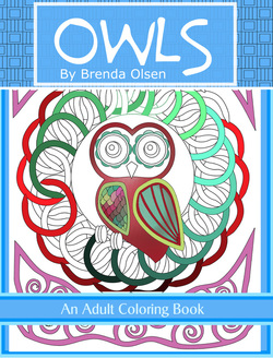 Owls an adult coloring book