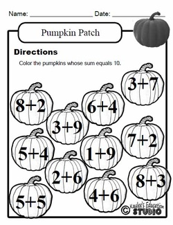 math worksheet : category math  kaylee s education studio : October Math Worksheets