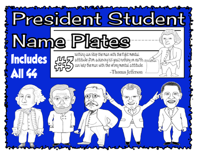 President Student Name Plates Cover