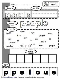 Printables First Grade Sight Words Worksheet first grade sight word worksheets kaylees education studio worksheets