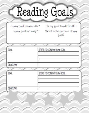 Reading Goals - Kaylee's Education Studio