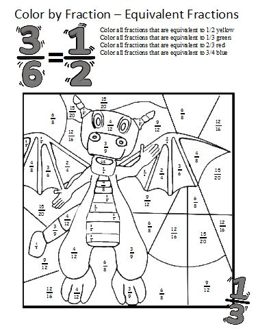 math worksheet : color by fractions  kaylee s education studio : Equivalent Fraction Worksheets With Pictures
