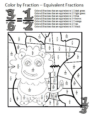math worksheet : color by fractions  kaylee s education studio : Equivalent Fractions Worksheet Pdf