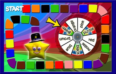 Spin for the stars: Learning color words file-folder game ...