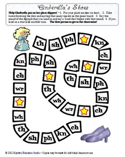 Cinderella's Shoes - initial digraph board game - Kaylee's Education ...