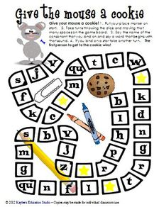 Give the mouse a cookie initial consonant practice game